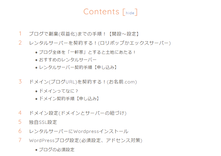 Table of Contents Plusの使用イメージ