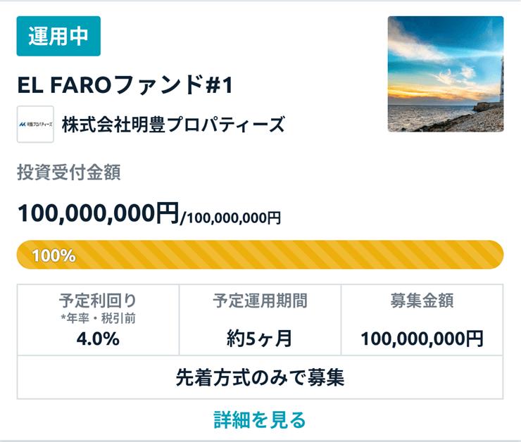 funds投資先企業利回り4%
