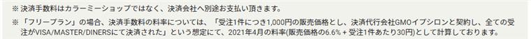カラーミーショップで月1万円売り上げがある場合の参考費用の注意事項